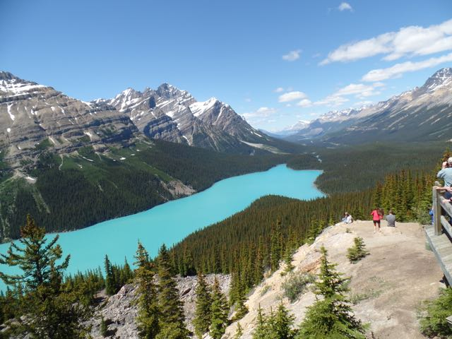 Bow Summit, looking down on Peyto Lake (GC32FFX)