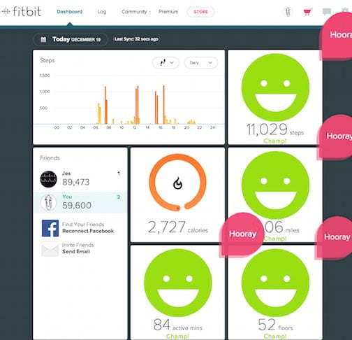 Fitbit Dashboard.  Jes continues to kick my ass.