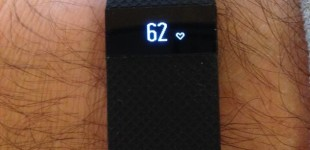 Fitbit Charge HR on my very hairy arm.