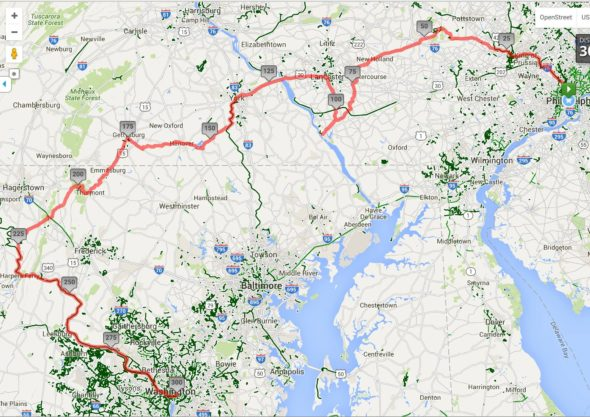 Map My Ride works supremely well. It's built for this sort of endeavor.