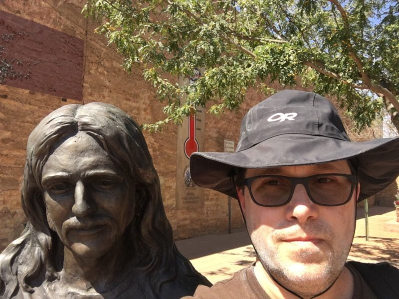 Standing on the corner in Winslow Arizona.