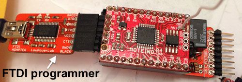 Programming the sensing unit